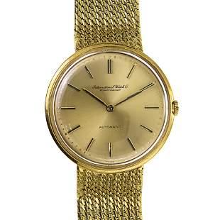 Schaffhausen IWC 18k Gold Automatic Wrist Watch.