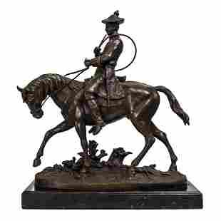 Horseman Bronze Sculpture after Pierre-Jules Mene