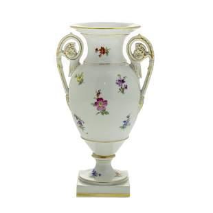 Meissen Porcelain Vase, Germany, 20th Century.