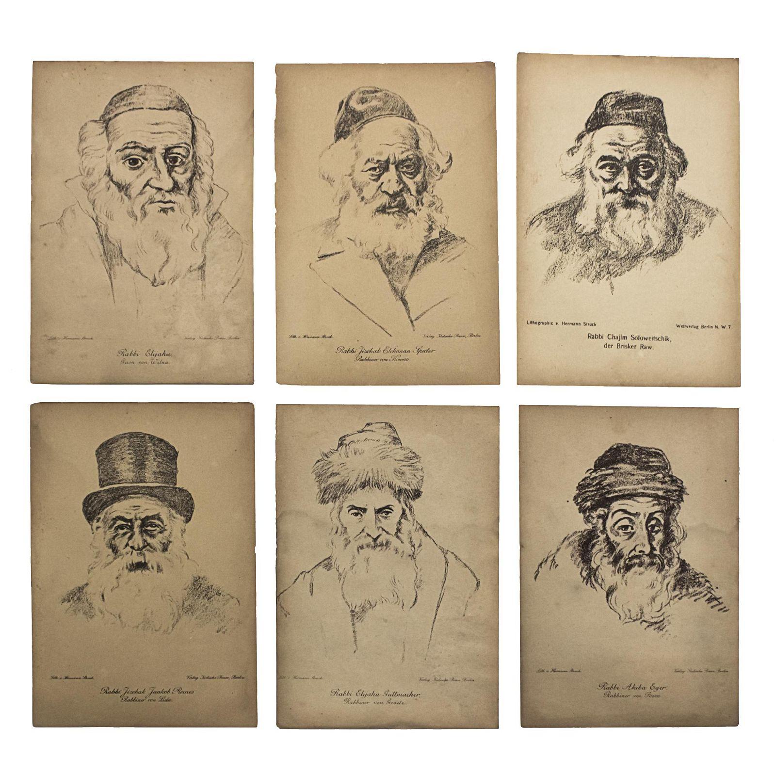 Hermann Struck (1876-1944) - Rabbis, Six Lithographs.