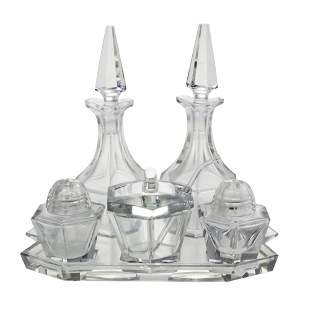 Crystal Condiment Set.
