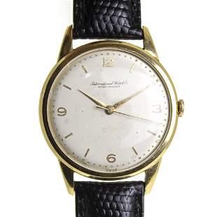 Schaffhausen IWCSchaffhausen IWC Wrist Watch, 18k Gold.