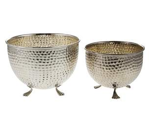 Italian Pair of Sterling Silver Serving Bowls.