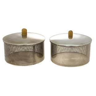 Stunning Pair of Italian Sterling Silver Boxes.