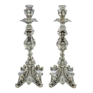 Amazing pair of Sterling Silver Candlesticks.