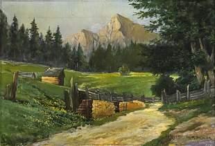 R. Schuck - Unidentified Artist - Landscape, Oil on