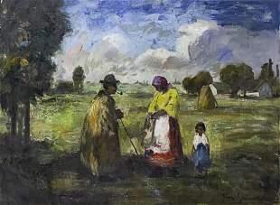 Bela Ivanyi Grunwald (Hungarian, 1867-1940) - Figure in