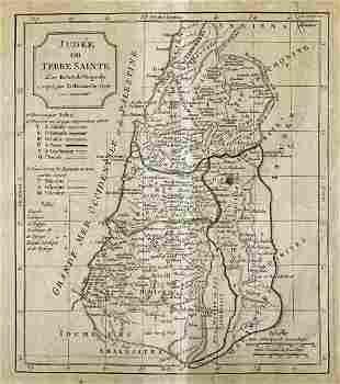 Judee ou Terre Sainte par Robert de Vaugondy, Map,