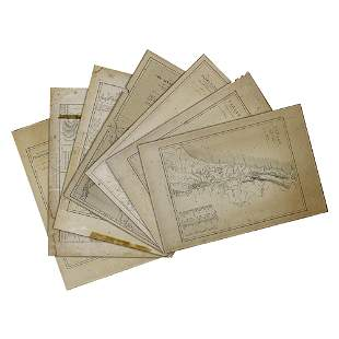William Hughes (British, 1793-1825) Lot of 7 Maps,