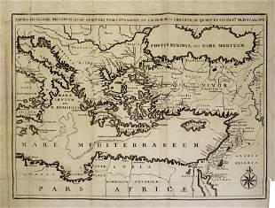 Mediterranean Map, Augustin Antoine Calmet (French,