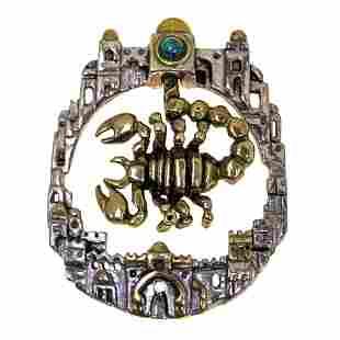 Frank Meisler (1929-2018) - Scorpion Brooch Pendant,