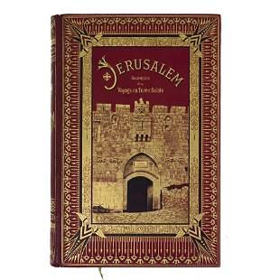 Jerusalem Souvenirs d'un Voyage en Terre-Sainte Book,