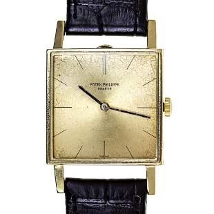 Patek Philippe 18k Yellow Gold Wrist Watch, 1960s.
