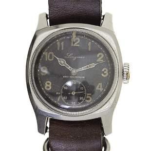 Longines Czech Majetek Wrist Watch, Czech Army, 1940s.