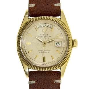 Rolex 18k Gold President Day Date Wrist Watch, 1959.