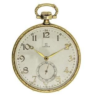 Omega 14k Gold Pocket Watch.