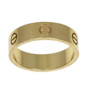 Cartier 18k Yellow Gold Love Ring.