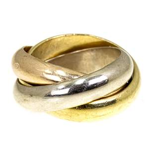 Cartier 18k Gold Trinity Ring.