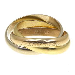 Les Must de Cartier 18k Gold Trinity Ring.