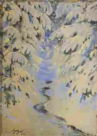 Adam Batycki (Polish, 1886-1970) - Landscape,