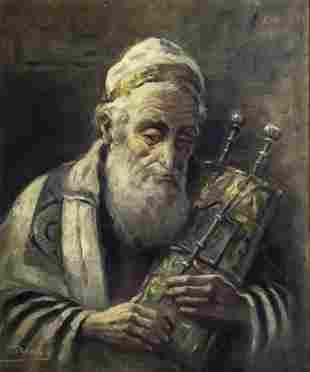 Antal Anton Peczely (Hungarian, 1891-1963) - Rabbi, Oil