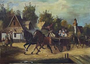 Unidentified Artist - Horvath (Hungarian) - Carriage,
