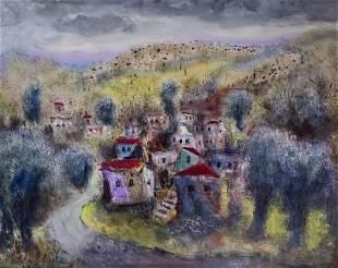 Albert Goldman (1922-2011) - Landscape, Oil on Canvas