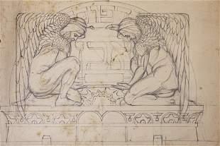 Shmuel Ben David (1884-1927) Bezalel - Lithograph