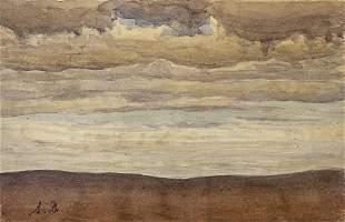 Shmuel Ben David (1884-1927) Bezalel - Landscape,