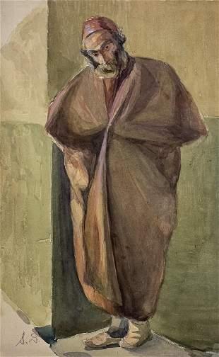 Shmuel Ben David (1884-1927) Bezalel - Jewish Figure,
