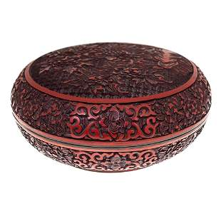 High Quality Chinese Cinnabar Lacquer Box.