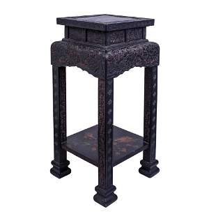 Superb Chinese Cinnabar Lacquer Side Table.