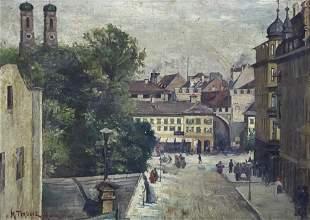 Maurycy Trebacz (Poland, 1861-1941) - Munich, Oil on