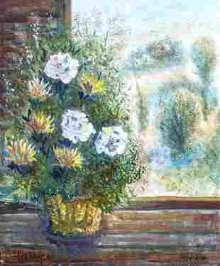 Albert Goldman (1922-2011) - Flowers and Landscape from