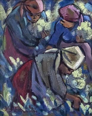 Hennie Niemann (South African, b.1941) - Women, Oil on