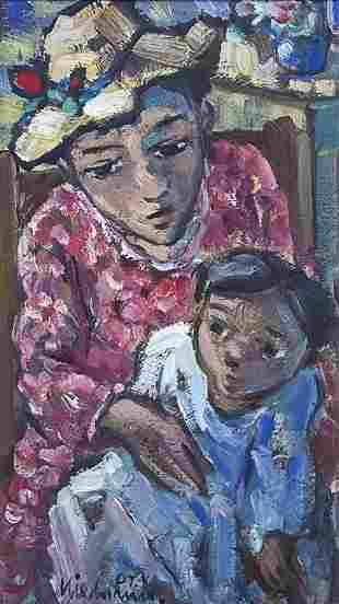 Hennie Niemann (South African, b.1941) - Mother and