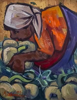 Hennie Niemann (South African, b.1941) - Pumpkin Day,