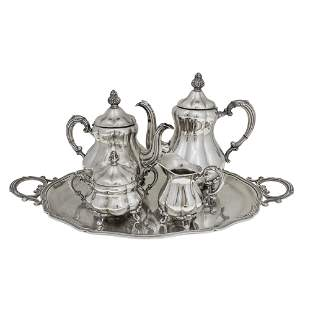 Sterling Silver Tea and Coffee Set, Otto Wolter,