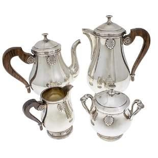 Gallia Christofle Tea and Coffee Set, 4pcs, Paris,