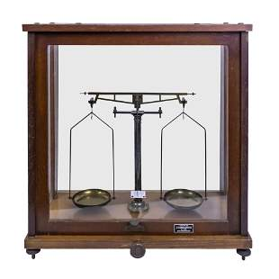 Lab Balance Scale in a Wood Cabinet, Johannesburg,