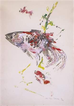 Pham Thuc Chuong (Vietnamese, 1918-1983) - Koi Fish,