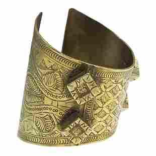 Egyptian or Ottoman Gilt Silver Arm Bracelet.
