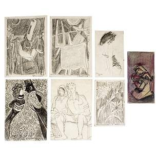 David Schneuer (1905-1988) - 7 Drawing Sketches.
