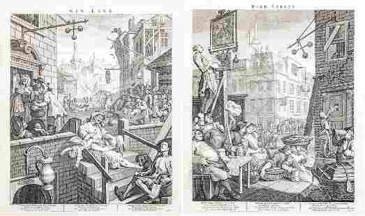 William Hogarth (British, 1697-1764) - Beer Street and