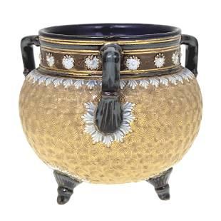 Royal Doulton Ceramic Vase, Model - Gilt Circle,
