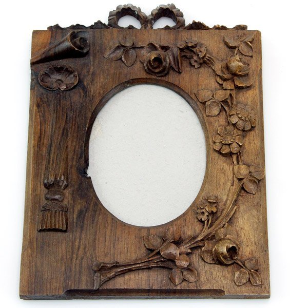 Carved Wood Picture Photo Frame, France, Ca 1880.