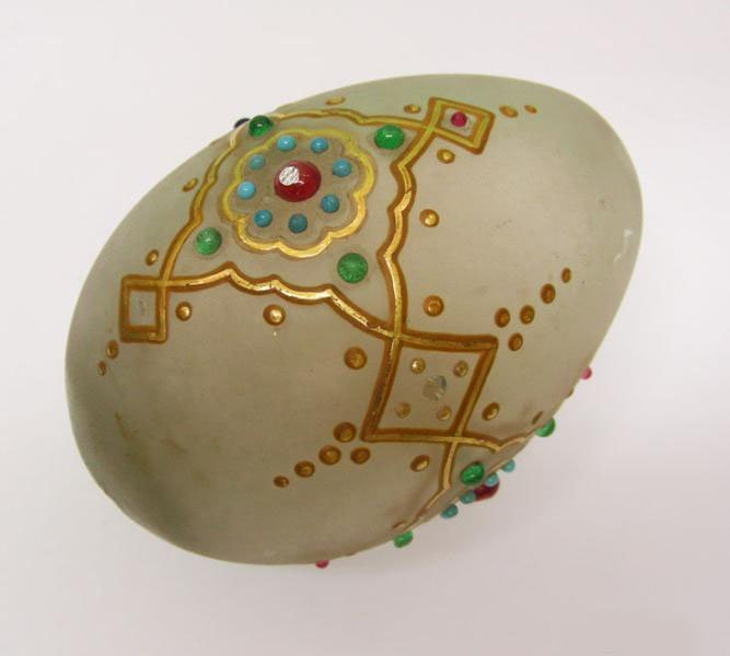 Russian Glass Easter Egg, Ca 1870.