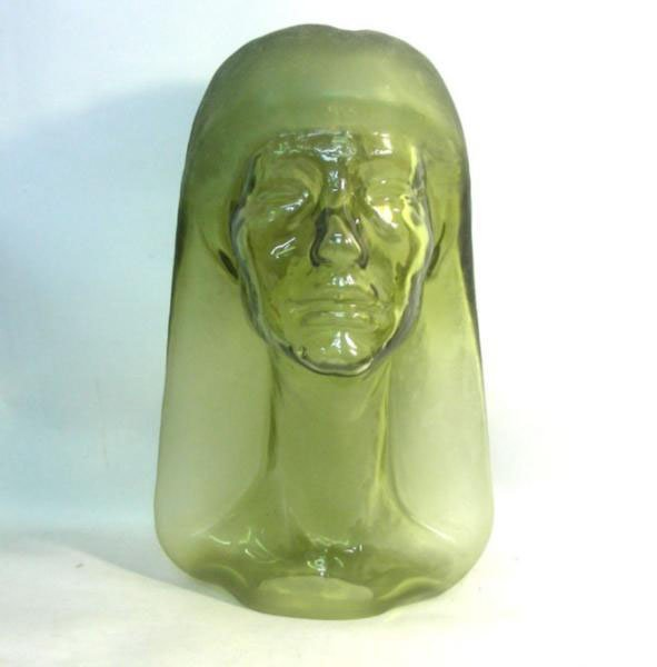 Henri Navarre - Art Deco Glass Sculpture Of A Woman