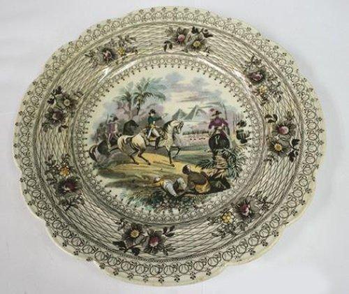 Napoleon Egyptian Campaign Porcelain Plate, Wm. Smith.