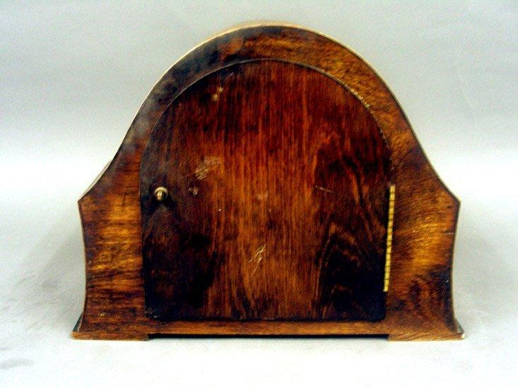 Art Deco Enfield Oak Wood Mantel Clock, England, 1930s. - 3